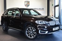 """USED 2014 14 BMW X5 3.0 XDRIVE30D SE 5DR AUTO 255 BHP Finished in a stunning sparkling metallic brown styled with 19"""" alloys. Upon entry you are presented with full leather interior, full service history, pro satellite navigation, bluetooth, xenon headlights, heated sport seats, electric seats with memory, parking sensors, light package, DAB radio, teleservices, connected drive services, live traffic updates, anthracite headlining, adaptive suspension comfort package, automatic air conditioning, LED fog lights, ULEZ EXEMPT"""