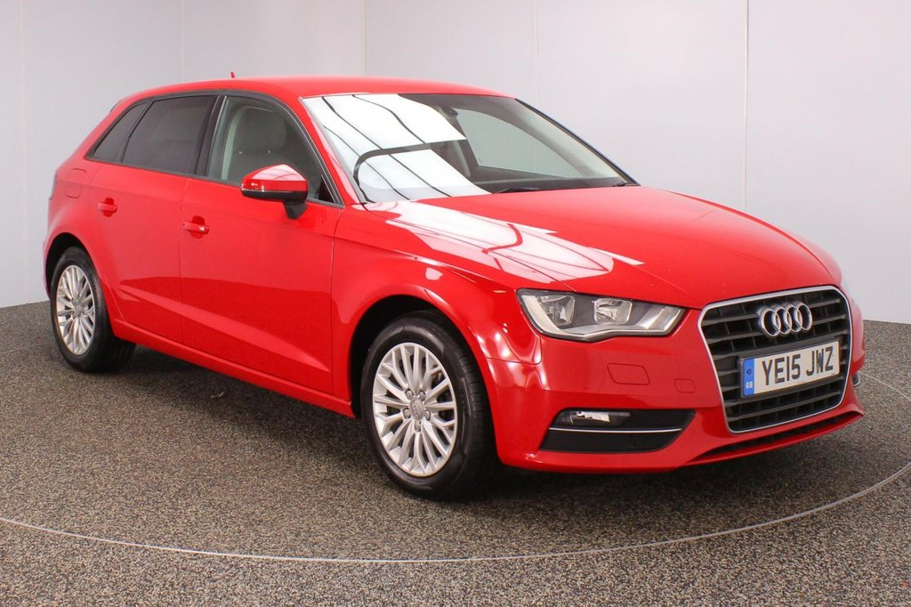 USED 2015 15 AUDI A3 2.0 TDI SE TECHNIK 5DR AUTO 148 BHP + 1 OWNER + FSH  FULL SERVICE HISTORY + £30 12 MONTHS ROAD TAX + HEATED SEATS + PARKING SENSOR + BLUETOOTH + CRUISE CONTROL + CLIMATE CONTROL + MULTI FUNCTION WHEEL + DAB RADIO + PRIVACY GLASS + RADIO/CD/SD + ELECTRIC WINDOWS + ELECTRIC/HEATED DOOR MIRRORS + 16 INCH ALLOY WHEELS