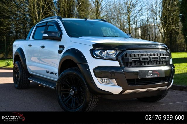 USED 2017 67 FORD RANGER 3.2 TDCi Wildtrak Double Cab Pickup Auto 4WD 4dr NAV+22' ALLOYS+AA CHECKED