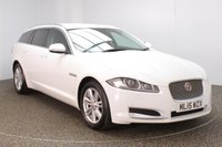 USED 2015 15 JAGUAR XF 2.2 D LUXURY SPORTBRAKE 5d AUTO 163 BHP FULL SERVICE HISTORY + HEATED LEATHER SEATS + SATELLITE NAVIGATION + REVERSE CAMERA + PARKING SENSOR + BLUETOOTH + CRUISE CONTROL + CLIMATE CONTROL + MULTI FUNCTION WHEEL + XENON HEADLIGHTS + PRIVACY GLASS + DAB RADIO + ELECTRIC SEATS + ELECTRIC WINDOWS + ELECTRIC MIRRORS + 17 INCH ALLOY WHEELS