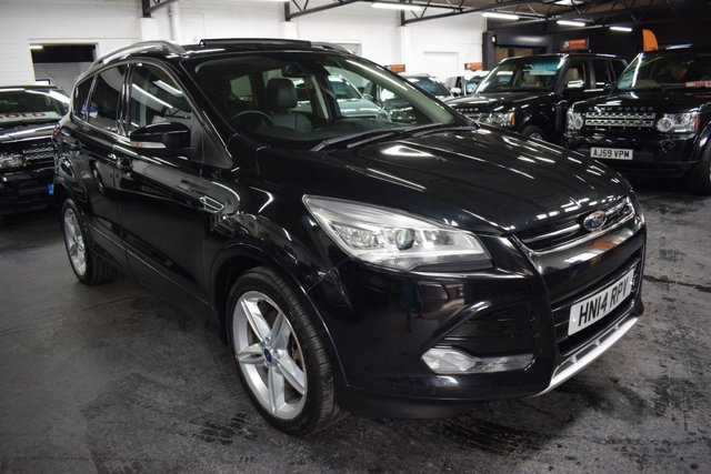 USED 2014 14 FORD KUGA 2.0 TITANIUM X TDCI 5d 138 BHP LOVELY CONDITION - TITANIUM X - 5 STAMPS TO 73K - FULL LEATHER - PRIVACY - GLASS PANROOF - HEATED SEATS