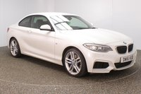 USED 2016 16 BMW 2 SERIES 1.5 218I M SPORT 2DR AUTO 134 BHP FULL BMW SERVICE HISTORY + SATELLITE NAVIGATION + HARMAN/KARDON PREMIUM SPEAKERS + PARKING SENSOR + BLUETOOTH + AIR CONDITIONING + MULTI FUNCTION WHEEL + DAB RADIO + XENON HEADLIGHTS + ELECTRIC WINDOWS + ELECTRIC MIRRORS + 18 INCH ALLOY WHEELS