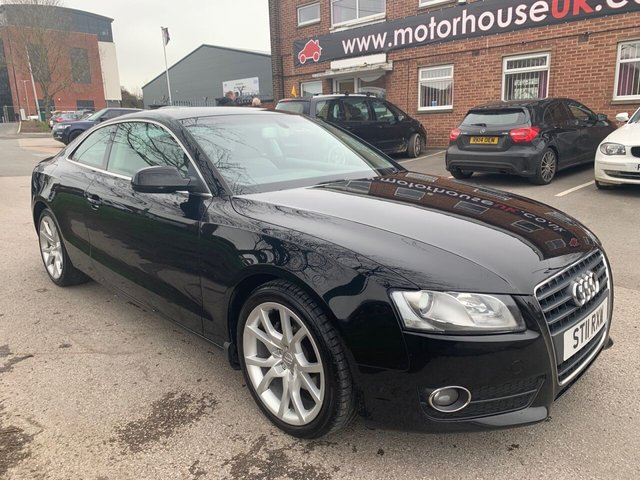 USED 2011 11 AUDI A5 1.8 TFSI SPORT 2d 158 BHP COUPE EXCELLENT EXAMPLE FOR AGE AND MILEAGE, COMES WITH ALLOY WHEELS, PARK SENSORS, HEATED LEATHER SEATS, RADIO/CD/AUX/USB, CRUISE CONTROL, CLIMATE CONTROL