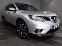 "USED 2015 65 NISSAN X-TRAIL 1.6 DIG-T N-TEC 5d 163 BHP STUNNING UNIVERSAL SILVER METALLIC WITH LUXURY BLACK CLOTH UPHOLSTERY. ONLY ONE OWNER FROM NEW. NEW MOT ON PURCHASE. PANORAMIC GLASS ROOF. 19"" SILVER/BLACK ALLOY WHEELS. AIR CONDITIONING. SATELLITE NAVIGATION. PARKING SENSORS FRONT AND REAR. ELECTRIC WINDOWS. REMOTE CENTRAL LOCKING. PLEASE GOTO www.lowcostmotorcompany.co.uk TO VIEW OVER 120 CARS IN STOCK."