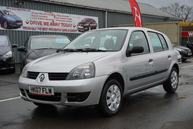 USED 2007 07 RENAULT CLIO 1.1 CAMPUS 8V 5d 58 BHP IDEAL FIRST CAR,, LONG MOT