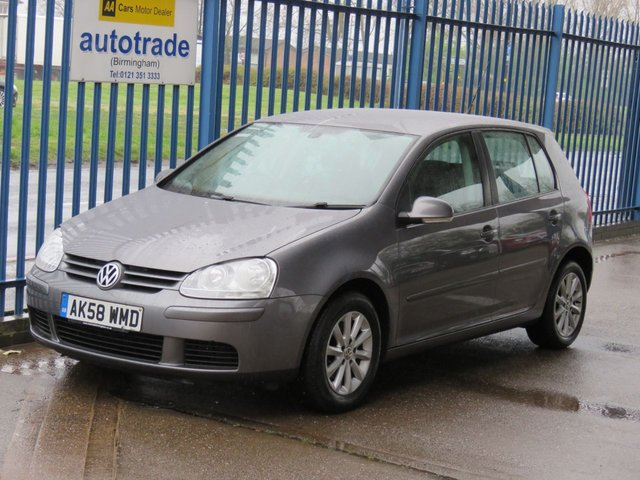 USED 2008 58 VOLKSWAGEN GOLF 1.9 MATCH TDI 5dr Cruise Air con Alloys Auto lights Finance arranged Part exchange available Open 7 days