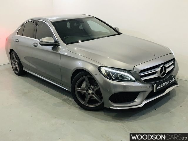 USED 2015 65 MERCEDES-BENZ C-CLASS 2.1 C220 D AMG LINE 4DR AUTOMATIC 1 Previous Owner / Leather Seats / Sat Nav / Ghost Alarm