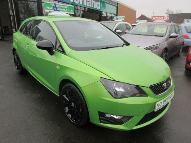 USED 2014 14 SEAT IBIZA 1.6 CR TDI FR 3d 104 BHP CALL 01543 379066... 12 MONTHS MOT... 6 MONTHS WARRANTY... DIESEL... JUST ARRIVED