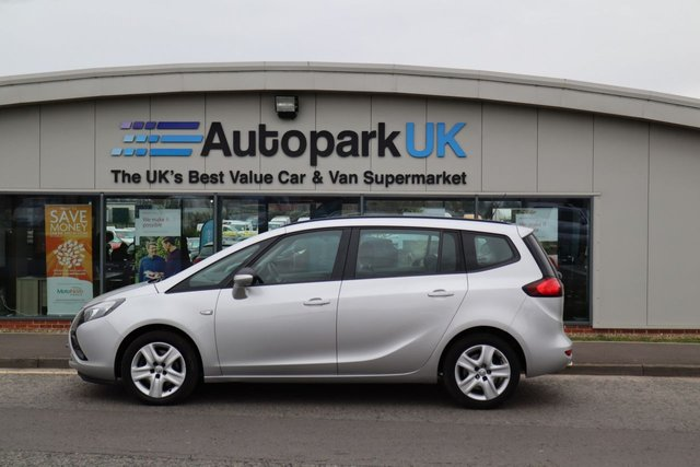 USED 2014 14 VAUXHALL ZAFIRA TOURER 2.0 EXCLUSIV CDTI 5d 162 BHP LOW DEPOSIT OR NO DEPOSIT FINANCE AVAILABLE