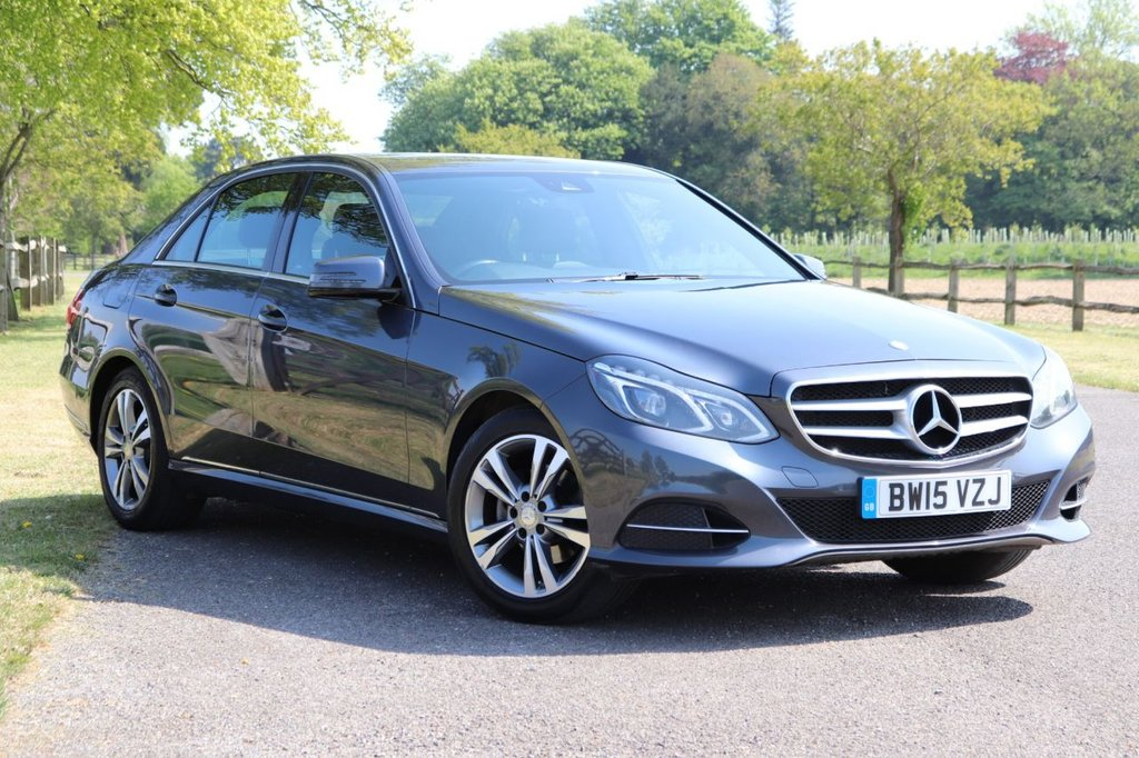 USED 2015 15 MERCEDES-BENZ E-CLASS 2.1 E220 BLUETEC SE 4d 174 BHP Satnav + Parking Aid + Cruise + Leather Heated Seats