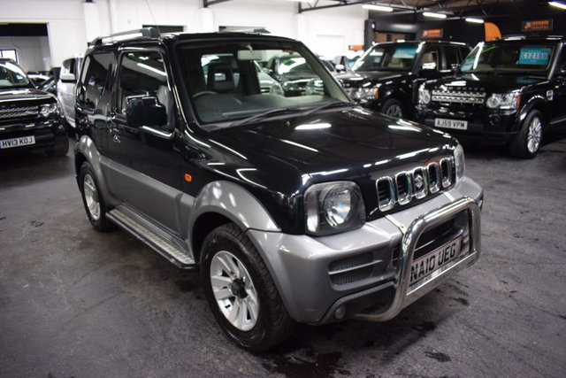 USED 2010 10 SUZUKI JIMNY 1.3 SZ4 3d 85 BHP 4X4  STUNNING LITLLE LOW MILEAGE JIMNY SZ4 - 4X4 - 9 STAMPS TO 24K - ONE PREVIOUS KEEPER - LEATHER - ALLOYS - SIDE STEPS - TOWBAR