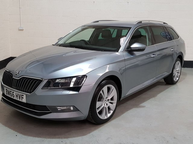 USED 2017 66 SKODA SUPERB 2.0 SE L EXECUTIVE TDI 5d 188 BHP 2017 1 Owner/Heated Leather/Sat-Nav/Park Sensors/Power Boot