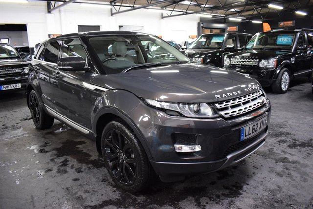 USED 2012 62 LAND ROVER RANGE ROVER EVOQUE 2.2 SD4 PRESTIGE LUX 5d 190 BHP 4X4 AUTO STUNNING TOP SPEC PRESTIGE LUX - 5 STAMPS TO 58K - MET HAVANA - ONE PREVIOUS KEEPER - GLASS PANROOF - MERIDIAN SPEAKERS