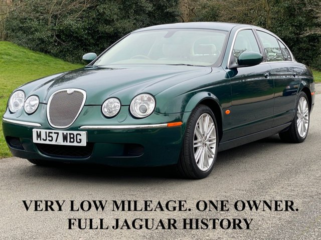 USED 2007 57 JAGUAR S-TYPE 3.0 SE V6 240 BHP. ONE OWNER FROM NEW