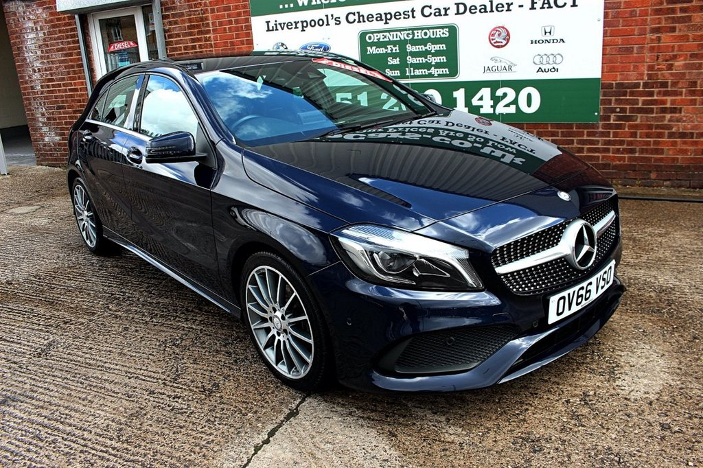 USED 2016 66 MERCEDES-BENZ A-CLASS 2.1 A 200 D AMG LINE PREMIUM 5d AUTO 134 BHP +ONE OWNER +HALF LEATHER +NAV.