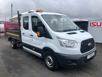 2016 FORD TRANSIT 350 2.2TDCi Double Cab Tipper 125PSi £13950.00