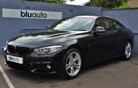 USED 2014 14 BMW 4 SERIES 420 D 2.0 M SPORT COUPE 2d 181 BHP Pristine Condition, Full Leather, Heated Seats, Bluetooth/DAB, Navigation plus much more......