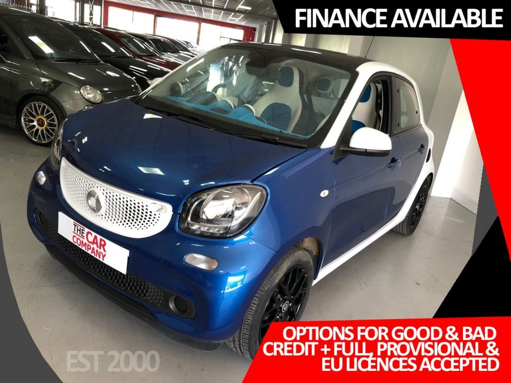 USED 2015 65 SMART FORFOUR 0.9 PROXY PREMIUM T 5d 90 BHP * PAN ROOF * CRUISE * PARKING SENSORS * HALF LEATHER *