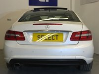 USED 2009 59 MERCEDES-BENZ E CLASS 2.1 E250 CDI BLUEEFFICIENCY SPORT 2d 204 BHP Stunning Mercedes-Benz E250 CDi BE Coupe Sport With The 7G-Tronic Automatic Gearbox Finished In Probably The Best Combination Of Designo Mystic White Pearl Effect With Contrasting Black Leather Upholstery, Absolutely Fabulous Looking Car That Drives As Good As It Looks, Just The Right Spec Too With 18 Inch AMG Alloys And Body Kit, Full-Length Tilt, And Slide Panoramic Glass Roof, Heated Black Leather Sports Seat, Multi-Contour Seats, Bi-Xenon Headlamps With Headlamp Wash, Full COMAND Sat