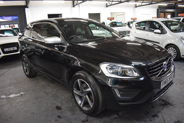 USED 2016 65 VOLVO XC60 2.0 D4 R-DESIGN LUX NAV 5d 188 BHP AUTO LOVELY CONDITION THROUGHOUT - ONE PREVIOUS KEEPER - 5 VOLVO SERVICE STAMPS TO 100K - LEATHER - NAV - HEATED SEATS - PRIVACY GLASS