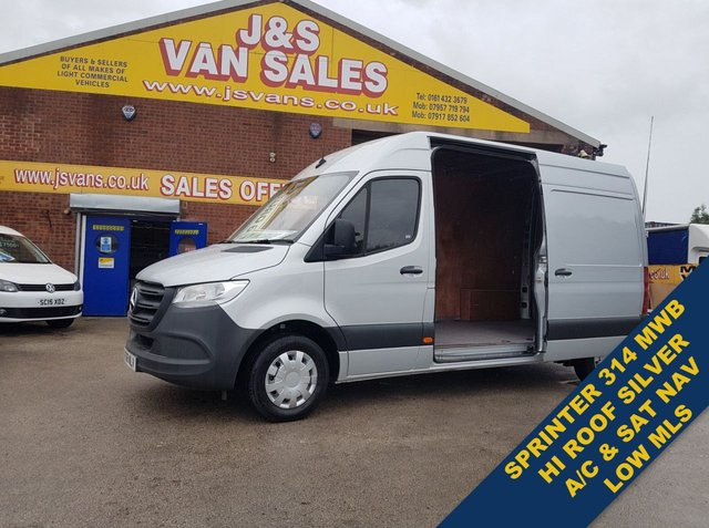 USED 2018 68 MERCEDES-BENZ SPRINTER 314 CDI M.W.B HI TOP VAN LOW MLS ( BIG SPEC ) (((( LOTS MORE EURO 6 VANS ON SITE OVER 100 )))