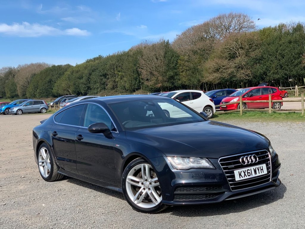 USED 2011 61 AUDI A7 3.0 TDI QUATTRO S LINE 5d 245 BHP FULL LEATHER, SERVICE HISTORY, SATELITE NAVIGATION, PARKING SENSORS, PADDLE SHIFT, BLUE TOOTH, KEYLESS GO, REMOTE LOCKING, ALLOYS, ELECTRIC SEATS, ELECTRIC WINDOWS, ELECTRIC MIRRORS, MEMORY SEATS, REAR SPOILER, NATION WIDE DELIVERY, SAME DAY FINANCE