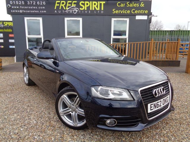USED 2013 62 AUDI A3 1.8 TFSI S line Final Edition Cabriolet S Tronic 2dr Nav, Phone, Heated Sts, Bose