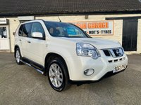 USED 2013 63 NISSAN X-TRAIL 2.0 DCI N-TEC PLUS WHITE SATNAV,