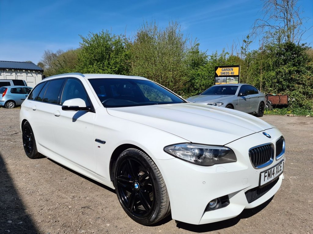 USED 2014 14 BMW 5 SERIES 2.0 520D M SPORT TOURING 5d AUTO 181 BHP 2 LITRE ESTATE