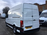 USED 2018 18 VOLKSWAGEN CRAFTER 2.0TDI CR35 MWB HIGH ROOF STARTLINE 140BHP EURO 6. NEW SHAPE. LOW 22K MILES. VW WARRANTY 16.08.2021. EURO 6. PX