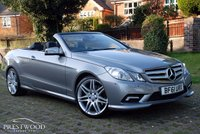 USED 2011 61 MERCEDES-BENZ E-CLASS E220 CDI BLUEEFFICIENCY SPORT EDITION 125 AUTO CABRIOLET [170 BHP]
