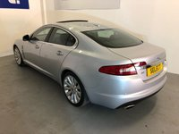 """USED 2008 08 JAGUAR XF 2.7L PREMIUM LUXURY V6 4d AUTO 204 BHP Absolutely Stunning Jaguar XF 2.7 V6 Premium Luxury Six-Speed  Automatic Finished In Lovely Liquid Silver With Contrasting Black Perforated Leather Upholstery, Only 61,750 Miles From New With A Fabulous 12 Stamp Service History, Originally Specced Up By Jaguar Themselves This Has Got To Be One Of The Highest Specification XF's We Have Seen, There Is Literally Everything On This Car, From Leather Upholstery, Heated And Cooled Ventilated Seats, Sun-Roof, Upgrader 19"""" Auriga Alloys, Digital TV Tune"""