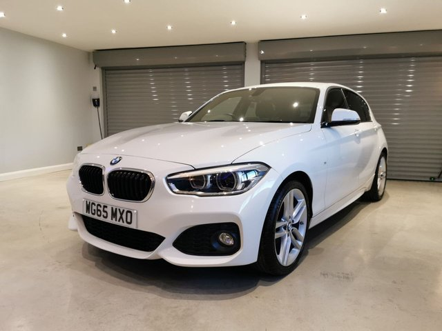 USED 2015 65 BMW 1 SERIES 116D M SPORT SAT NAV SATELLITE NAVIGATION + PRIVACY GLASS + £20 ROAD TAX