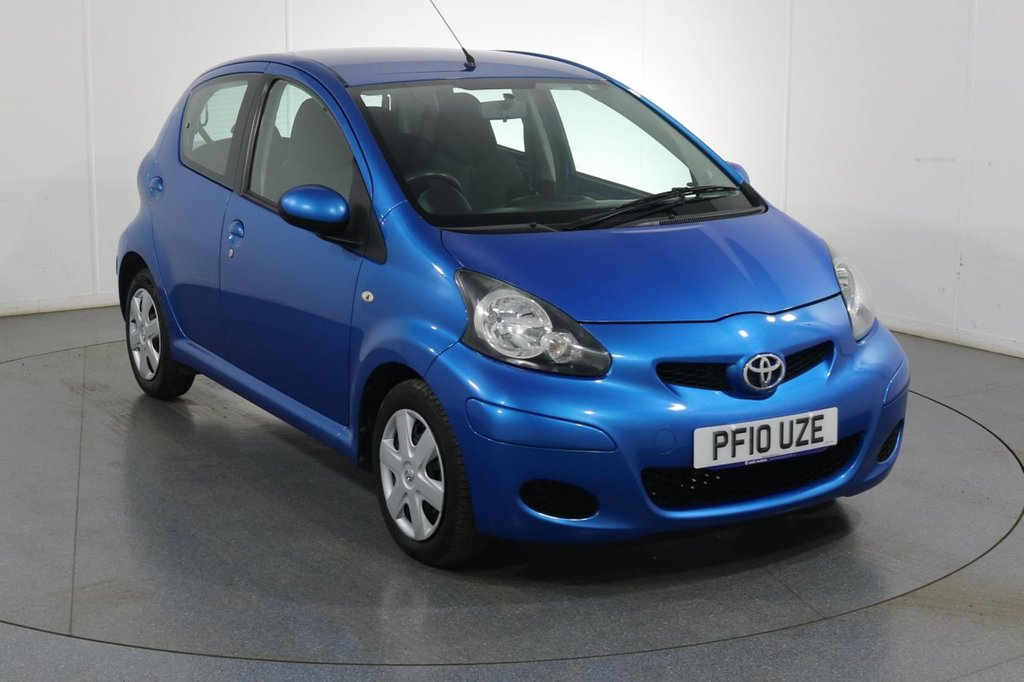 USED 2010 10 TOYOTA AYGO 1.0 BLUE AUTOMATIC VVT-I 5d 67 BHP 2 OWNERS From New
