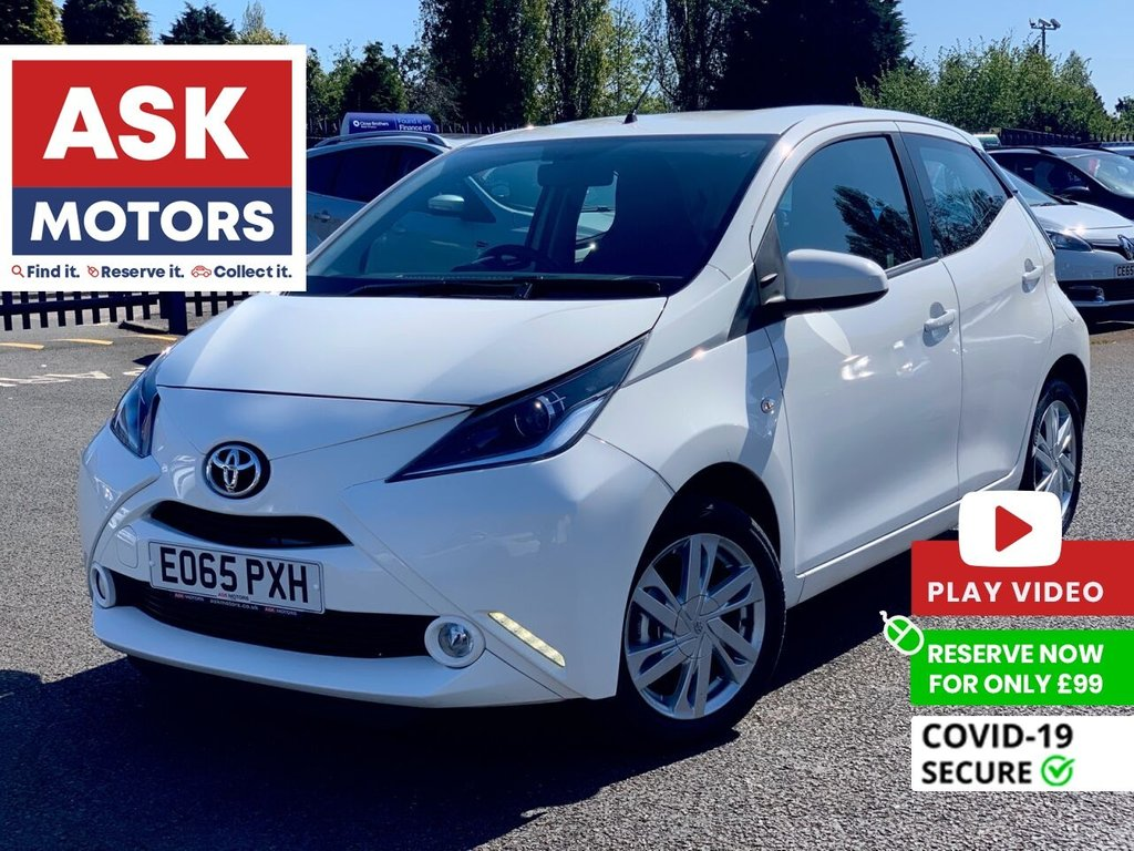 USED 2015 65 TOYOTA AYGO 1.0 VVT-I X-PRESSION 5d 69 BHP REVERSE CAMERA BLUETOOTH FREE TAX