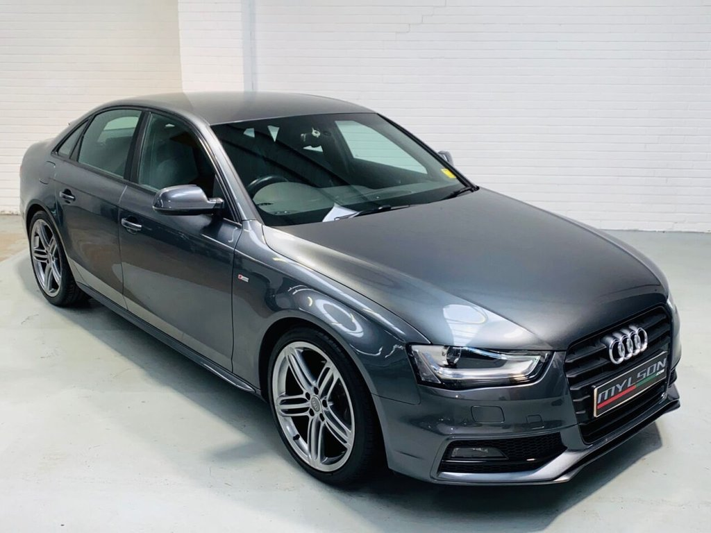 USED 2012 12 AUDI A4 2.0 TDI BLACK EDITION 4d 174 BHP Facelift S-Line Spec, Daytona Grey with Black Leather Interior, 19 Inch Wheels, £30 Road Tax