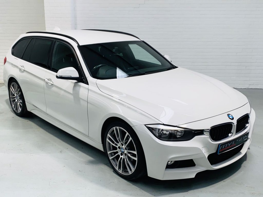 USED 2013 13 BMW 3 SERIES 2.0 318D M SPORT TOURING 5d 141 BHP Alpine White M Sport Touring, Full Black Leather Interior, Heated Seats, 19 Inch Wheels, Privacy Glass