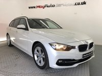 USED 2016 65 BMW 3 SERIES 2.0 320D ED SPORT TOURING 5d 161 BHP *ALPINE WHITE & FULL LEATHER HEATED SEATS *