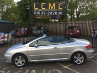 USED 2005 05 PEUGEOT 307 2.0 COUPE CABRIOLET 2d 135 BHP ALUMINIUM SILVER, BLACK CLOTH INTERIOR, BRAND NEW MOT, LAST SERVICE AT 78517 MILES, CD PLAYER, AIR CON, AUTO LIGHTS/WIPERS, 16 INCH ALLOY WHEELS, REAR PARK SENSORS