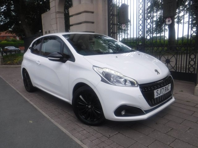 USED 2017 17 PEUGEOT 208 1.2 PURETECH BLACK EDITION 3d 82 BHP 1 OWNER*CRUISE*BLUETOOTH*A/C*APPLE CAR PLAY & ANDROID AUTO
