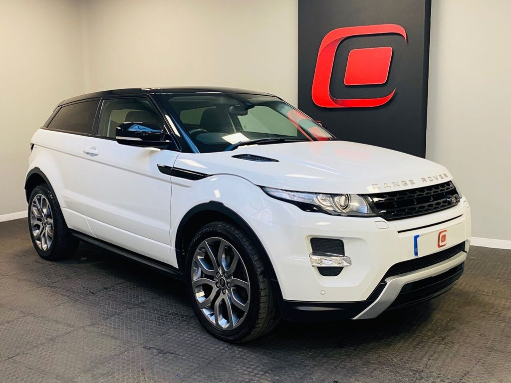 USED 2013 63 LAND ROVER RANGE ROVER EVOQUE 2.2 SD4 DYNAMIC 3d 190 BHP ONLY 26K + SAT NAV + PAN ROOF + 20 INCH ALLOYS