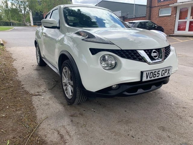 USED 2015 65 NISSAN JUKE 1.5 ACENTA PREMIUM DCI 5d 110 BHP EXCELLENT EXAMPLE FOR AGE AND MILEAGE, PREMIUM COLOUR, £20 ROAD TAX, EXCELLENT MPG, ALLOY WHEELS, ELECTRIC WINDOWS AND DOOR MIRRORS, BLUETOOTH, CLIMATE CONTROL, CRUISE CONTROL