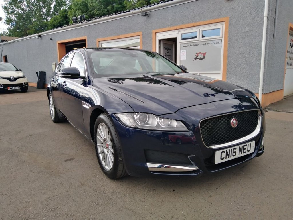 "USED 2016 16 JAGUAR XF 2.0 PRESTIGE 4d 161 BHP Colour Sat Nav, 17"" Alloys, Front and Rear PDC, Black Leather, Heated Seats, Bluetooth"