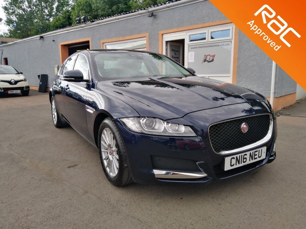 """USED 2016 16 JAGUAR XF 2.0 PRESTIGE 4d 161 BHP Colour Sat Nav, 17"""" Alloys, Front and Rear PDC, Black Leather, Heated Seats, Bluetooth"""