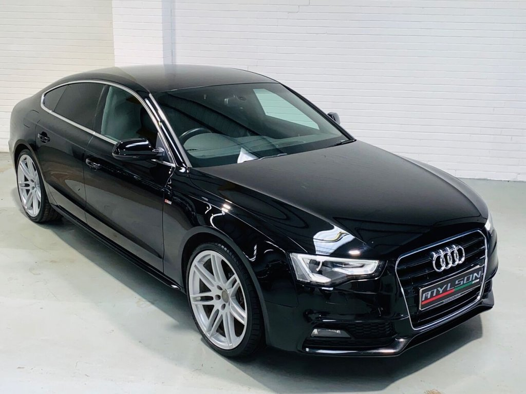 USED 2013 63 AUDI A5 2.0 SPORTBACK TDI S LINE 5d 177 BHP 20 Inch RS Wheels, Black Leather Trim, Facelift Model, £30 Road Tax