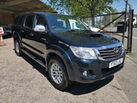 USED 2013 63 TOYOTA HI-LUX 3.0 D-4D INVINCIBLE  4X4 DCab Automatic Pick up *LEATHER TRIM*  AUTOMATIC - FULL LEATHER - C/CODED TOP