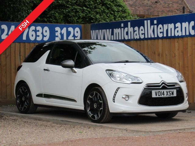 USED 2014 14 CITROEN DS3 1.6 DSTYLE PLUS 3d 120 BHP FSH LOVELY CLEAN CAR