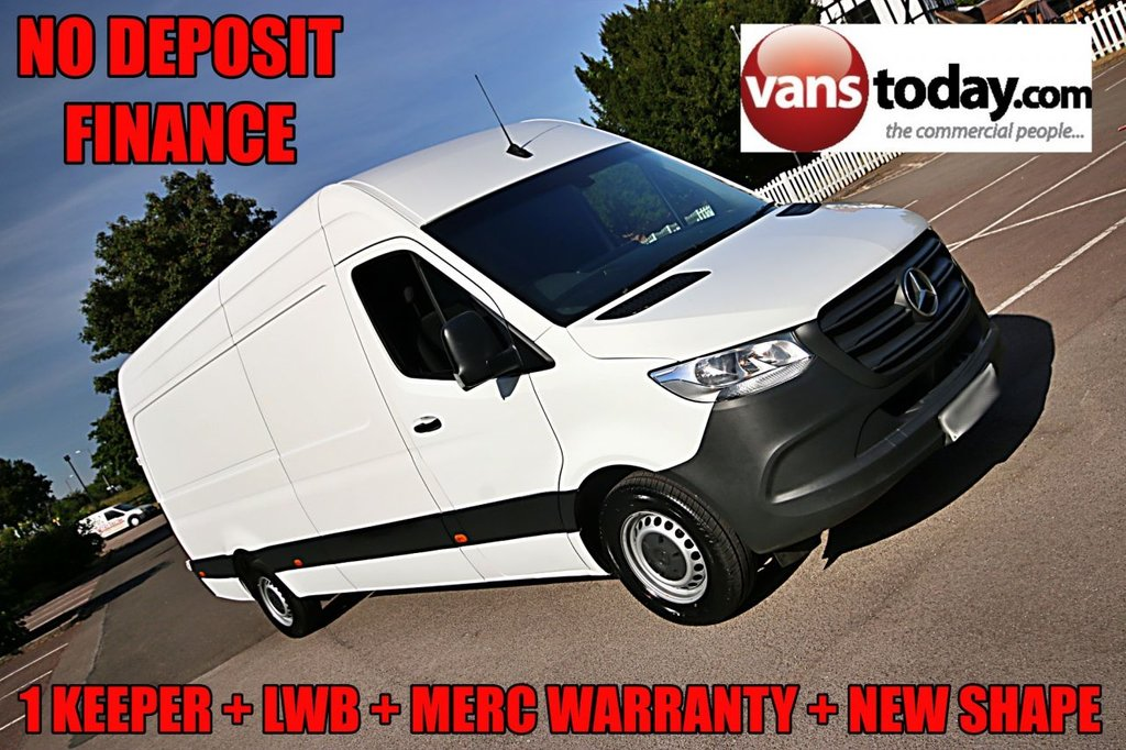USED 2018 68 MERCEDES-BENZ SPRINTER 2.1 314 CDI 141 BHP L3 H2 MERC WARRANTY + NEW SHAPE + EURO 6 1 KEEPER, MERC WARRANTY, EURO 6, NEW SHAPE