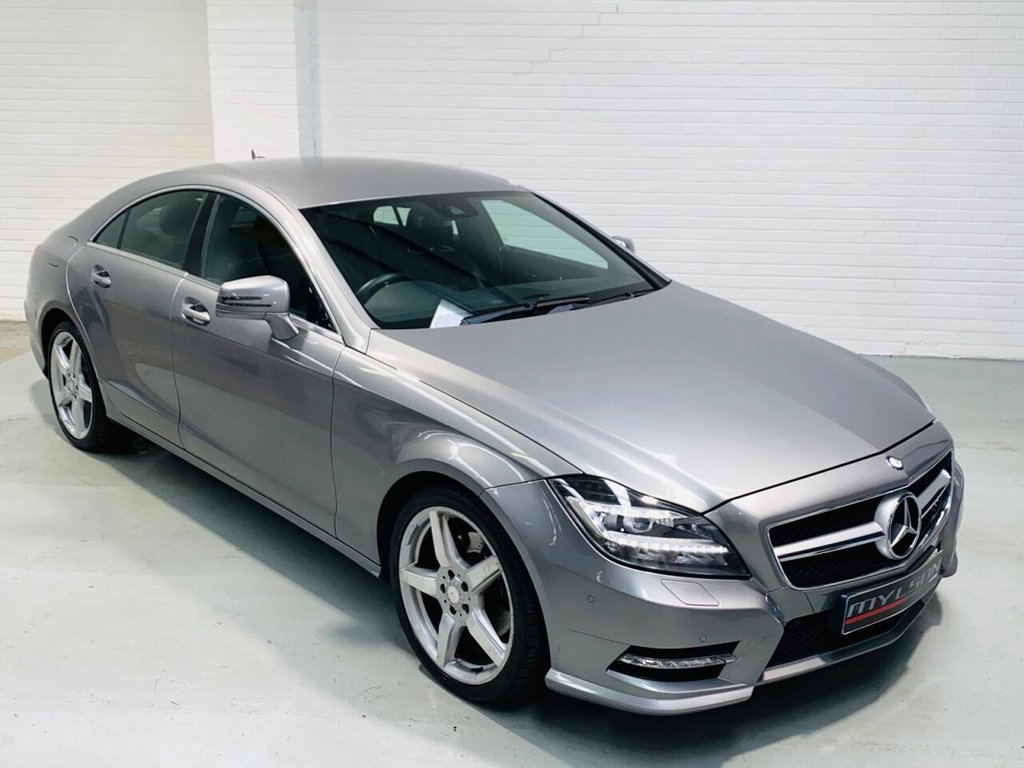 USED 2013 13 MERCEDES-BENZ CLS CLASS 2.1 CLS250 CDI BLUEEFFICIENCY AMG SPORT 4d 204 BHP DUE IN.. Full Mercedes Service History, Metallic Palladium Silver with Black Leather, COMAND Media System