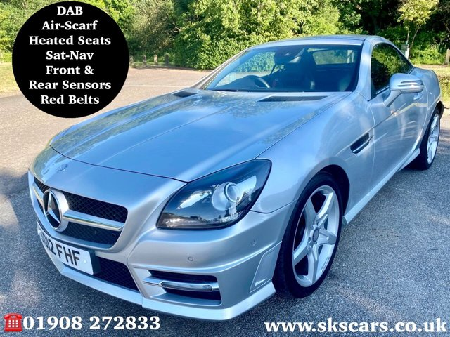 2012 12 MERCEDES-BENZ SLK 1.8 SLK250 BLUEEFFICIENCY AMG SPORT 2d 204 BHP
